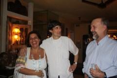 Stella Caymmi, Georges Gachot e Cravo Albin. A sessão foi um sucesso.