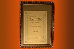 A partitura doada de O Gaúcho, obra de Ernesto Nazareth, encontra-se em exposição no Instituto