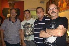 Luiz Carlos Queiroz, Marcos Freitas, presidente da Associação Brasileira de Antiquários, Luiz Henrique B. de Arruda e Eduardo Biculho