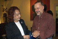 Maria Josephina Mignone e Cravo Albin felizes com o sucesso do sarau