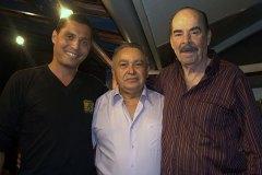 Allan 7 cordas, Genésio Nogueira e Lauro Gomes, produtor da Rádio MEC, juntos pela primeira vez