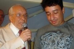 Gerdal dos Santos – homenageado pelo ICCA pelos seus 80 anos – e Luiz Murillo, da FUNJOR