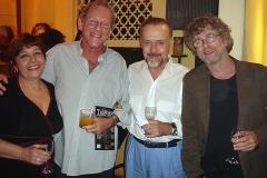 Sueli Costa, Nelson Hoineff, Alberto Rosenblit e Ricardo Cravo Albin